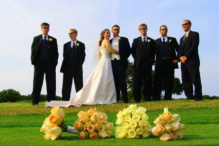 Wedding PartyGolf course Virginia Beach Wedding